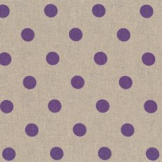 Spots Purple on Natural Linen Blend Home decorating weight largerscale spot printed on a cottonlinen blend Suitable for lampshades cushions bags midweight skirts and many other craft and sewing projects. Please Click the image for more information.