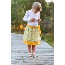 Make It Perfect BIG Flipsy Flipsy is the sweetest reversible skirt around  Why go to all that effort to make one skirt when you can make two absolutely adorable fun skirts for your little girl at the same time  When she has had enough of wearing one skirt all it takes is a simple flip your little girl will have a new skirt to wearFor a complete outfit make a quick and easy coordinating appliqu top and you are set  Flipsy comes complete with eyecatching belt loop and button detail and features a tie at the waist to dress up an otherwise ordinary looking elastic waistband . Please Click the image for more information.