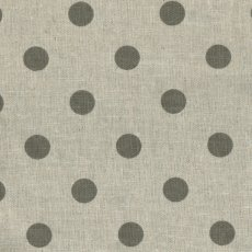 Spots Grey on Natural Linen Blend Home decorating weight largerscale spot printed on a cottonlinen blend Suitable for lampshades cushions bags midweight skirts and many other craft and sewing projects. Please Click the image for more information.