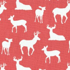 Deer Silhouette Coral Outdoor Fabric  Please Click the image for more information.