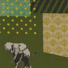 Echino Zon Olive Designed by Japanese textile designer Etsuko Furuya Echino Zon is a fabulous larger scale design of  animals together with geometrics in a unique range of colour tonesA . Please Click the image for more information.