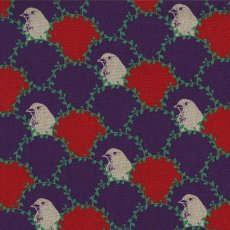 Echino Arc Purple Designed by Japanese textile designer Etsuko Furuya Echino Arc is a beautifully unique bird design that is a lovely weight for a skirt or bag and sturdy enough for upholstery curtains blinds and soft furnishings . Please Click the image for more information.