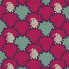 Echino Arc Fuchsia Designed by Japanese textile designer Etsuko Furuya Echino Arc is a beautifully unique bird design that is a lovely weight for a skirt or bag and sturdy enough for upholstery curtains blinds and soft furnishings . Please Click the image for more information.