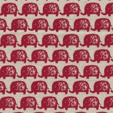 Elephant Red A favourite with the kids this elephant fabric would make adorable cushions wall art linen and lampshades for a nursery or bedroom Al. Please Click the image for more information.