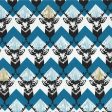 Echino Stag Blue This unique stag chevron design forms part of the Echino Huedrawer Collection designed in Japan by Etsuko Furuya. Please Click the image for more information.