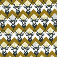 Echino Stag Mustard This unique stag chevron design forms part of the Echino Huedrawer Collection designed in Japan by Etsuko Furuya. Please Click the image for more information.