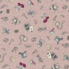 Alice in Wonderland Small Dusty Pink Alice in Wonderland is a classic and favourite fable amongst children around the world This quaint Alice in Wonderland fabric is sure to light up little faces no matter the project Printed on a medium weight cottonlinen blend this design will work well for home decorating projects for nurseries and bedrooms or for apparel quilting bags etc. Please Click the image for more information.