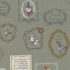 Alice in Wonderland Large Sage Alice in Wonderland is a classic and favourite fable amongst children around the world This quaint Alice in Wonderland fabric is sure to light up little faces no matter the project Printed on a medium weight cottonlinen blend this design will work well for home decorating projects for nurseries and bedrooms or for apparel quilting bags etc. Please Click the image for more information.