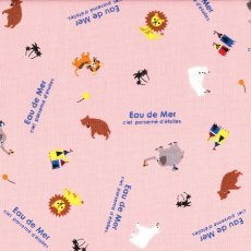 Eau de Mer Circus Animals Pink Sweet japanese fabric featuring minitiaure circus animals Please Click the image for more information.