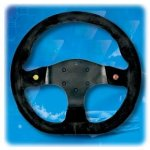 RPM SL S/W Runner 2000 330mm suede black Excellent 330mm steering wheel featuring flat bottom and 2 x push buttons Please Click the image for more information.