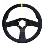 RPM SL S/W Imola 350mm Suede Black Black Suede 350mm steering wheel with yellow center stripe Flat wheel for standard fitment Please Click the image for more information.