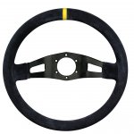 RPM Racing 2 350mm Black Suede Black Suede 350mm Rally steering wheel with yellow center stripe 90mm dished wheel for extended fitment. Please Click the image for more information.