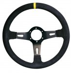 RPM SL S/W Racing 3 330mm 65mm dish suede black Black Suede 330mm Rally steering wheel with yellow center stripe 65mm dished wheel for extended fitment. Please Click the image for more information.