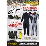 XMAS SPECIAL- GP RACE PACKAGE DEAL Package Includes ALPINESTARS GP RACE SUIT ALPINESTARS TECH 1 RACE GLOVES ALPINESTARS SP SHOES Boots Please Click the image for more information.