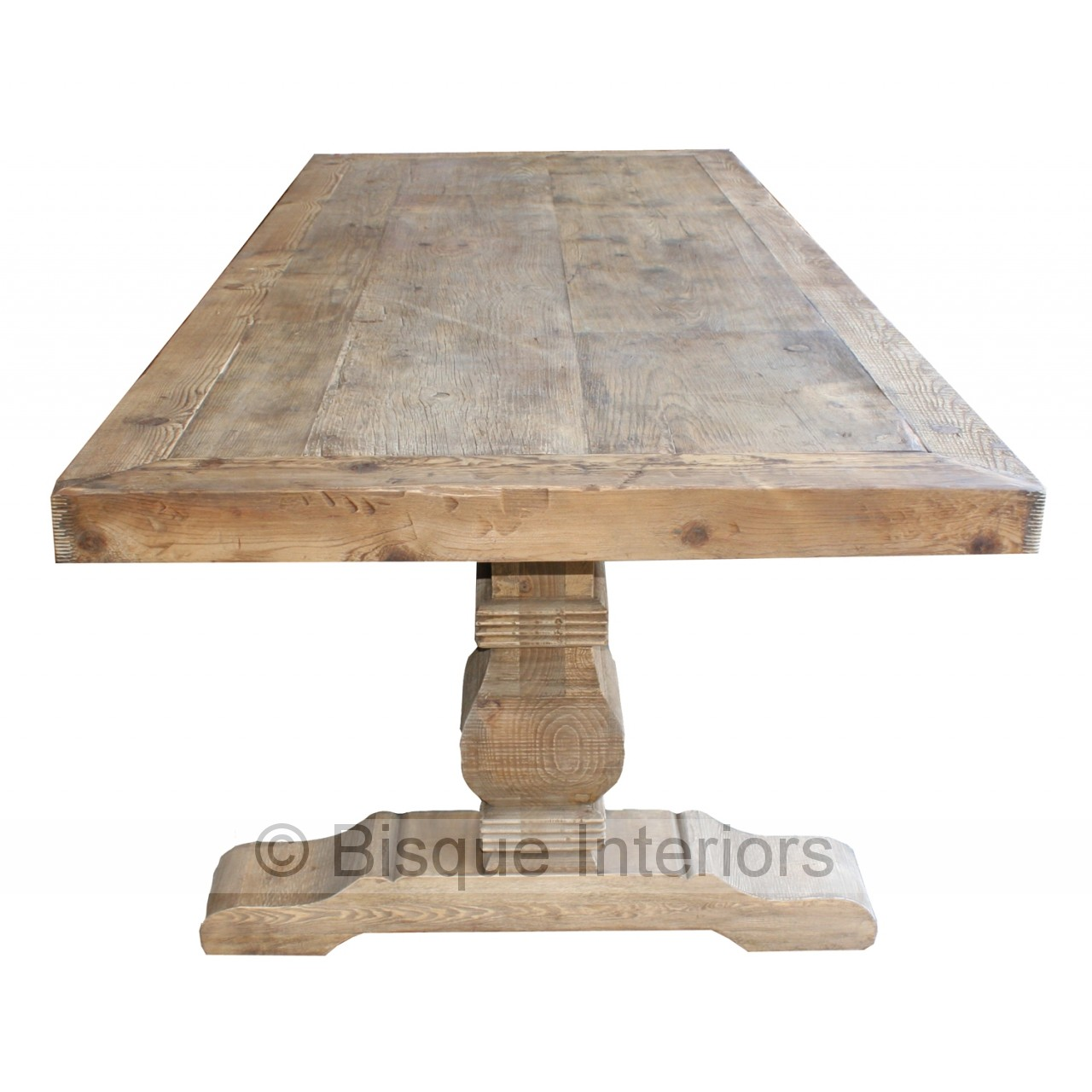 Carved natural leg dining table 3m for Table 3m