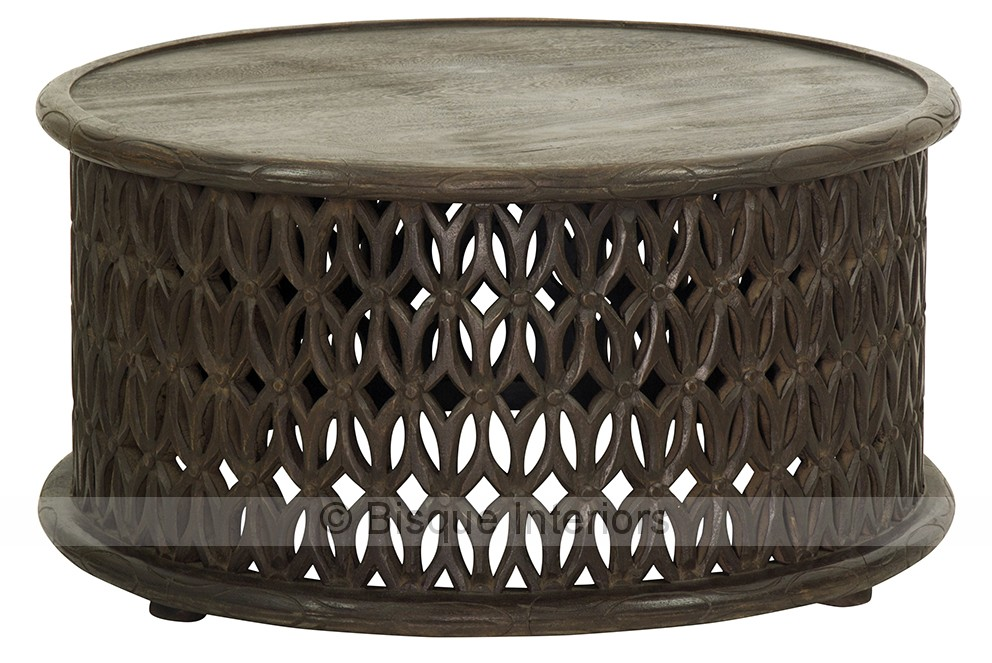 African carved round coffee table African coffee tables