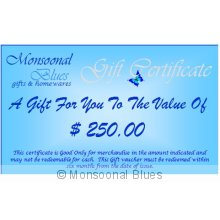 $250 Gift Certificate Please note  On Check out enter the PROMO CODE  giftvoucher to receive free postage of your gift voucher. Please Click the image for more information.