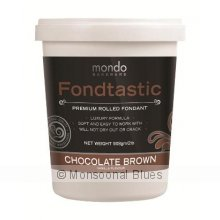Mondo Fondtastic Premium Rolled Fondant - Chocolate Brown The Fondtastic Premium Rolled Fondant by Mondo is a quality non stick pliable fondant icing that produces a smooth elegant finish I. Please Click the image for more information.