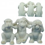 Three Monkeys Speak no evil Hear no evil and  See no evilA cute statue that each action is linked to the others action Mea. Please Click the image for more information.