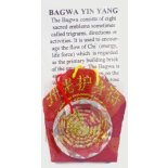 Bagwa   Glass Bagwa Pendent on red cord Please Click the image for more information.