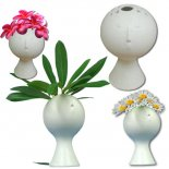 Cute Face Vase Unique and very useable little vase with a quirky expression on the face You can use flowers or nice fresh leaves for a fun and fabulous featureAn. Please Click the image for more information.