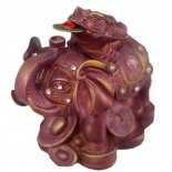 Elephant statue with Moon Frog Elephant Statue with Money Frog atop Wealth supported by Wisdomin purple and gold handpainted finish All . Please Click the image for more information.