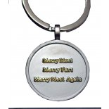 Merry Meet gold on silver keyring Gold Merry Meet Merry Part and Merry Meet Again on silver keyring An ye harm none do what ye will Wh. Please Click the image for more information.