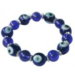 Evil eye bracelet on elastic cordThe Blue Eye of ProtectionThe Evil EyeFor hundreds of years the Evil Eye was used as an amulet to ward of evil intentions such as envy andmisfortune The Blue Eye w. Please Click the image for more information.