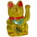 Gold Waving Cat Shiny Gold Waving Cat no batteries includedManeki NekoThe Welcoming Cat As far back as 5000 years ago the Cat has symbolised prosperity and protection for various cultures The Cat wa. Please Click the image for more information.