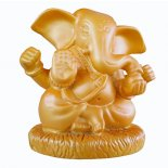 Golden Ganesha statue Golden Ganesha statue made from stone and resin composite  Please Click the image for more information.