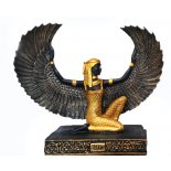 Winged Isis statue Isis statue in black and goldMade from poly stonecomes with storyGoddess of Life and LoveThe Goddess Isis is the first daughter of Geb God of the Earth and Nut Goddess of the Overarching Sky She was consider. Please Click the image for more information.