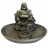 Laughing Buddha Stick Incense Holder, Silver Laughing Buddha Stick Incense Holder SilverPewter H60mm x W90mm Please Click the image for more information.
