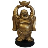 Standing Buddha Statue Holding Ingot above Head Antique Gold 195mm Standing Buddha Statue Holding Ingot above Head Antique Gold 195mm Please Click the image for more information.