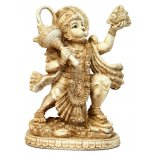 Hanuman, Monkey Statue, Ivory/Cream Matt Finish, H:  225mm x W:  175mm Hanuman Monkey Statue IvoryCream Matt Finish H  225mm x W  175mm Please Click the image for more information.
