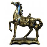 Horse Statue on Stand, Antique Gold, H:  405mm x W:  320mm Horse Statue on Stand Antique Gold H  405mm x W  320mm Please Click the image for more information.