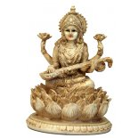 Saraswati Statue, Ivory/Cream, Matt Finish, H:  165mm x 115mm Saraswati Statue IvoryCream Matt Finish H  165mm x 115mmGoddess Saraswati is usually represented with four arms and seated on a lotus  In her . Please Click the image for more information.