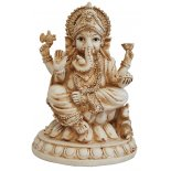 Ganesha, Elephant with legs crossed Statue Ganesha Elephant with legs crossed Statue IvoryCream Matt Finish H  195mm x W  140mm Please Click the image for more information.