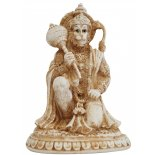 Hanuman, Monkey kneeling Statue Hanuman Monkey kneeling Statue IvoryCream Matt Finish H  155mm x W  110mm Please Click the image for more information.