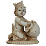 Baby Krishna with butter pot Statue Baby Krishna with butter pot Statue IvoryCream Matt Finish H  175mm x W  140mm Please Click the image for more information.