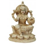 Lakshmi Statue Lakshmi Statue IvoryCream Matt Finish H  200mm x W  145mmLakshmiHindu Goddess of Wealth Happiness and LoveAs the consort of Vishnu Lakshmi is said to take different forms in order to be with him in each of his incarnations  Born from the c. Please Click the image for more information.