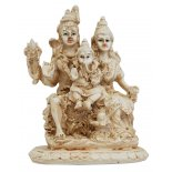 Shiva Family - Shiva, Pavarti and Ganesha Statue Shiva Family  Shiva Pavarti and Ganesha Statue IvoryCream Matt Finish H 120mm x W  95mm Please Click the image for more information.