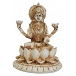 Lakshmi Statue Lakshmi Statue IvoryCream Matt Finish H  110mm x W  85mm Please Click the image for more information.
