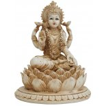 Lakshmi Statue Lakshmi Statue IvoryCream Matt Finish H  155mm x W  120mmLakshmiHindu Goddess of Wealth Happiness and LoveAs the consort of Vishnu Lakshmi is said to take different forms in order to be with him in each of his incarnations  Born from the c. Please Click the image for more information.