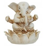 Ganesha, Elephant playing cymbals Statue Ganesha Elephant playing cymbals Statue IvoryCream Matt Finish H  95mm x W  90mm Please Click the image for more information.