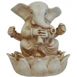 Ganesha, Elephant playing Trumpet Statue Ganesha Elephant playing Trumpet Statue IvoryCream Matt Finish H  90mm x W  90mm Please Click the image for more information.