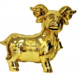 Goat/Sheep Coin Box, Shiny Gold GoatSheep Coin Box Shiny Gold H  140mm x W 160mm Please Click the image for more information.