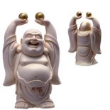 Laughing Buddha Standing Statue Holding Pearls of Wisdom Laughing Buddha Standing Statue Holding Pearls of Wisdom Ivory 115mm Please Click the image for more information.