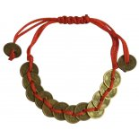 Coin Bracelet on red cord  Coin Bracelet on red cord Coin Diameter 5mm Please Click the image for more information.