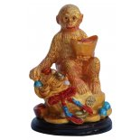 Monkey holding Ingot Statue, Gold Monkey holding Ingot Statue Gold H  80mm x W  55mm Please Click the image for more information.
