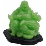 Laughing Buddha sitting in Armchair, Lime Green Laughing Buddha sitting in Armchair Lime Green on Black Stand H  130mm x W  130mmThis glossy statue of the Laughing Buddha is supported by the majestic double headed dragon armchair in which he sits while his feet relax on a bed of I ching coins All com. Please Click the image for more information.